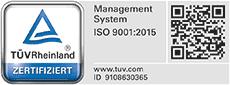 TÜV ISO 9001:2015